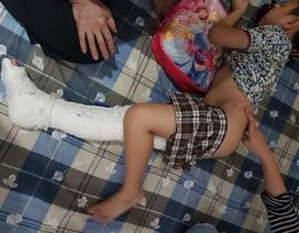 Học sinh nghi ngã gãy chân trong sân trường: Phụ huynh kiến nghị làm rõ
