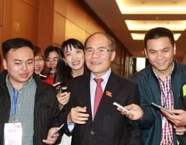 """Ông Nguyễn Sinh Hùng: """"Tôi bằng lòng, vui vẻ!"""""""