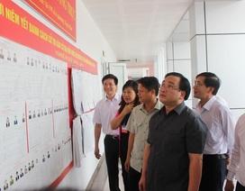 Bí thư Hà Nội xuống phường thị sát tình hình bầu cử