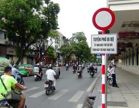 Cấm xe biển xanh vào phố đi bộ quanh hồ Gươm