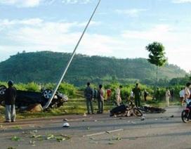 Thượng úy CSGT lái xe BMW tông 2 dân quân tử vong