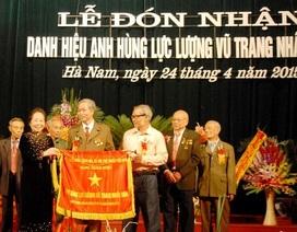 Thanh niên xung phong Hà Nam đón nhận danh hiệu Anh hùng