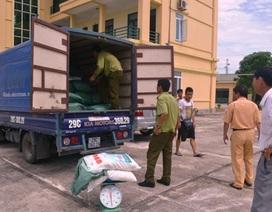 Bắt giữ xe tải chở 3,5 tấn mì chính không rõ nguồn gốc