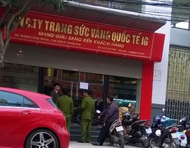 Công an khám xét sàn vàng tại thành phố Thanh Hóa
