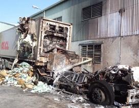 Cháy xe container chở 30 tấn thuốc bảo vệ thực vật