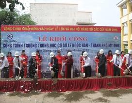 Tiền Giang: Khởi công xây dựng Trường THCS Lê Ngọc Hân