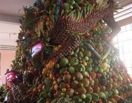 """Chiêm ngưỡng mâm trái cây Tứ linh nặng 3,5 tấn """"độc"""" nhất Xứ dừa"""