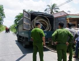 Xử phạt tài xế xả nước thải hầm cầu ra môi trường