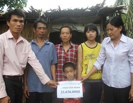 Hơn 33 triệu đồng đến với hai cha con mắc bệnh tim hiểm nghèo