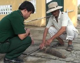 Đào ao nuôi tôm, hoảng hồn phát hiện đầu đạn nặng 6kg