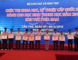 Học sinh Phú Yên và TPHCM cùng đoạt giải Nhất cuộc thi khoa học kỹ thuật