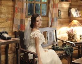Vy Oanh mặc áo cô dâu