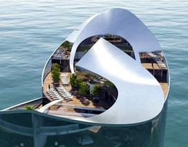 Cận cảnh khách sạn nổi siêu sang ở Qatar