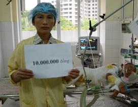 Quỹ Nhân Ái hỗ trợ nóng 10 triệu đồng đến bé 6 tuổi bị bỏng sâu 65% cơ thể