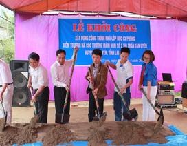 Khởi công xây dựng 3 phòng học Dân trí ở điểm trường Nà Cóc
