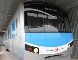 Hình ảnh toa tàu điện ngầm đầu tiên ở TP Hồ Chí Minh