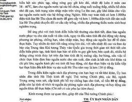 Hà Tĩnh đề nghị Trung ương hỗ trợ 80 tỷ đồng chống hạn
