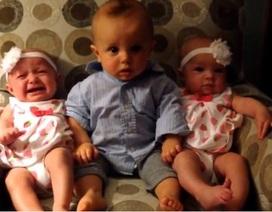 """Clip """"em bé phản ứng hài hước khi lần đầu gặp song sinh"""" nổi bật Internet tuần qua"""