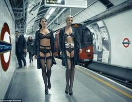 Hãng thời trang dùng sân ga tàu điện ngầm làm sàn diễn nội y