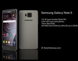 Galaxy Note 5 sẽ sớm được trình làng vào cuối tháng 7?