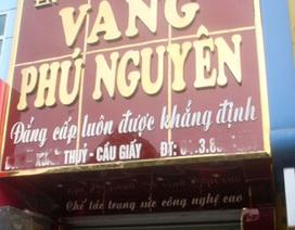 Hà Nội: Giáo viên dọa dùng mìn cướp tiệm vàng