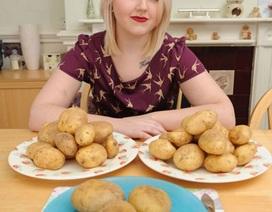 Cô gái chỉ ăn được khoai tây
