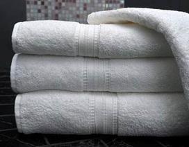 Tẩy trắng khăn mặt, khăn tắm bằng hóa chất