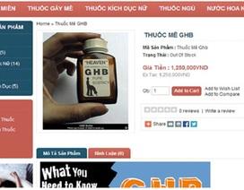 Thuốc mê bán nhan nhản trên mạng