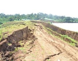 Chưa xác định nguyên nhân sụt lún tại hồ thủy lợi Ea Mrông