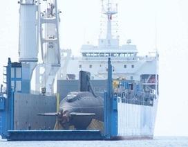 Tàu ngầm Kilo TP Hồ Chí Minh cập cảng Cam Ranh an toàn