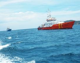 Tàu cá vỏ thép đầu tiên bị hỏng máy trên biển