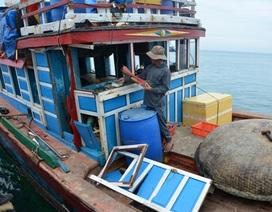 Một ngày, 2 tàu cá Lý Sơn bị tàu Trung Quốc tấn công