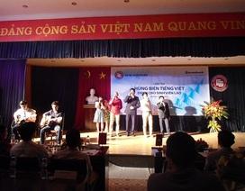 Sinh viên Lào trổ tài hùng biện bằng tiếng Việt