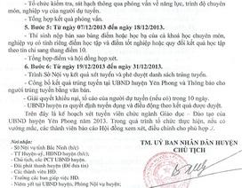 Yên Phong - Bắc Ninh: Thêm tình tiết bất ngờ trong tuyển dụng giáo viên