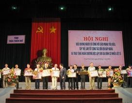 Trao huân chương độc lập cho 54 gia đình liệt sĩ
