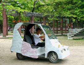 Chàng SV ráp thành công xe ô tô điện từ... đồ phế thải