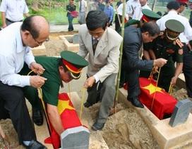 Cải táng 29 hài cốt liệt sĩ quân tình nguyện Việt Nam hy sinh tại Lào