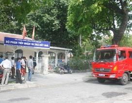 Trung tâm đăng ký quyền sử dụng đất TP Huế lại bị cháy