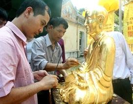 Kỳ công thếp vàng tượng Phật hoàng Trần Nhân Tông