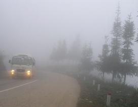 Sương mù dày đặc bao phủ Sa Pa