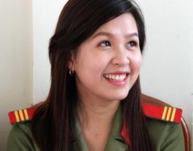 Nữ chiến sĩ công an xinh đẹp, đa tài