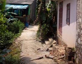 Sụt lún nghiêm trọng tại Hà Giang