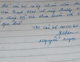 Cuốn sổ tang viết cho người đang nằm dưới sông!