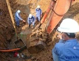 Bắt 2 bị can liên quan đến vụ vỡ đường ống nước sông Đà