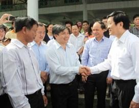 Chủ tịch nước kiểm tra thực địa vùng khô hạn tại Khánh Hòa