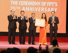 Tập đoàn FPT kỷ niệm 25 thành lập, đón Bằng khen của Thủ tướng Chính phủ