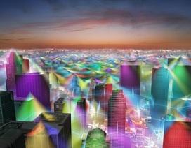 Hình ảnh mô phỏng sóng bức xạ điện thoại di động đẹp lung linh huyền ảo