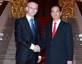 Thủ tướng hội kiến với Chủ tịch Hội đồng châu Âu