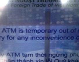 Thu phí ATM nội mạng: Đến quầy rút tiền cho nhanh?