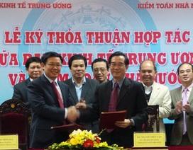 Ban Kinh tế Trung ương ký thỏa thuận hợp tác với Kiểm toán Nhà nước